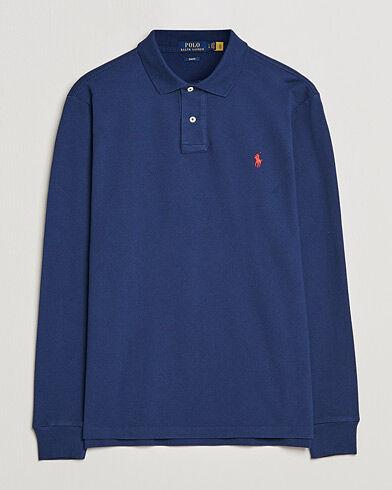 Image of Ralph Lauren Slim Fit Long Sleeve Polo Newport Navy
