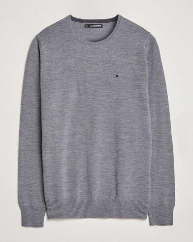 J.Lindeberg Lyle True Merino Crew Neck Pullover Grey