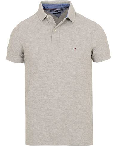 Tommy Hilfiger Slim Fit Performance Stretch Polo Cloud Heather