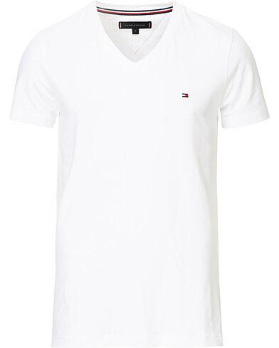 Tommy Hilfiger Slim Fit Stretch V-Neck Tee Bright White