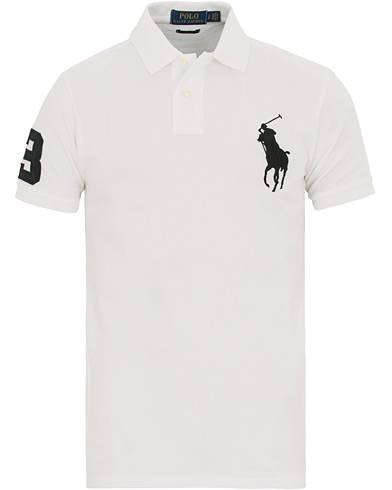 Image of Ralph Lauren Custom Slim Fit Big Pony Polo White