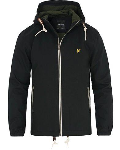 Lyle & Scott Hooded Twill Jacket True Black