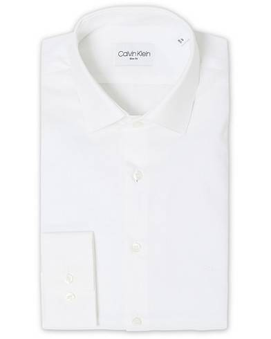 Calvin Klein Bari Slim Fit Stretch Poplin Shirt White