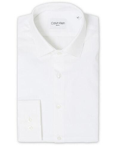 Image of Calvin Klein Bari Slim Fit Stretch Poplin Shirt White