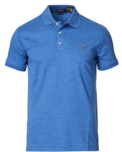 Image of Ralph Lauren Slim Fit Pima Cotton Polo Faded Royal