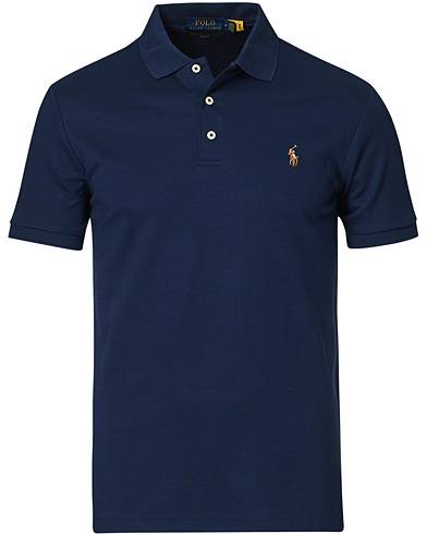 Image of Ralph Lauren Slim Fit Pima Cotton Polo French Navy