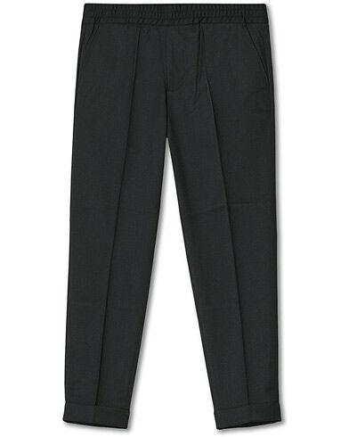 Filippa K Terry Gabardine Cropt Turn Up Trousers Antracite