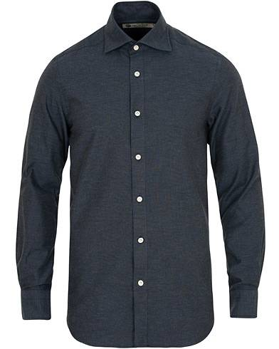 Morris Heritage Howard Cut Away Melange Shirt Navy