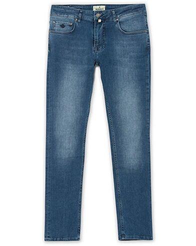 Morris Steve Satin Stretch Jeans Blue