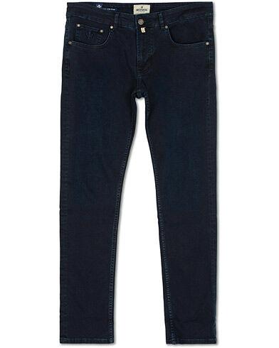 Morris Steve Satin Stretch Jeans Dark Wash