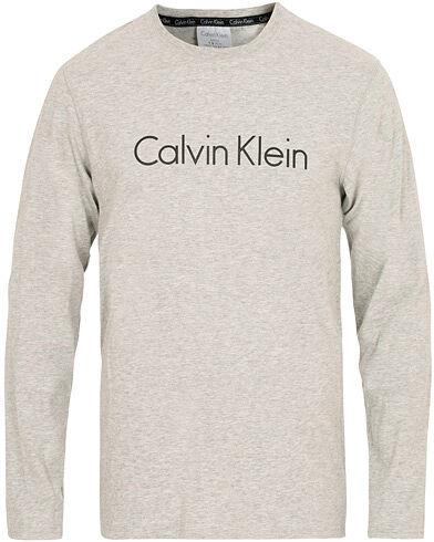 Image of Calvin Klein Logo Long Sleeve Tee Grey Melange