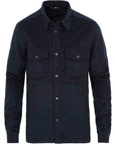 J.Lindeberg David Flat Wool Shirt Jacket Navy