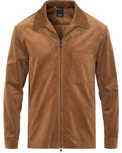 J.Lindeberg Jason Zip Corduroy Shirt Jacket Bison