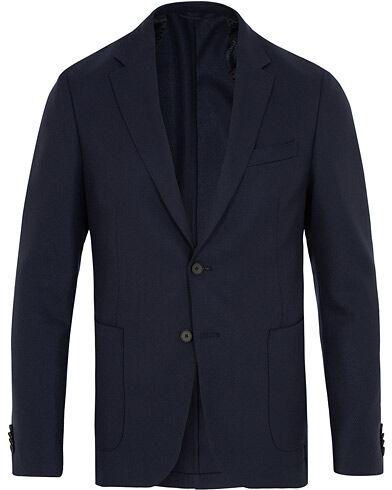 BOSS Nold Stretch Wool Blazer Dark Blue