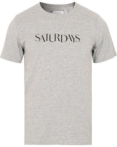 Saturdays NYC  Miller Sans Tee Ash Heather