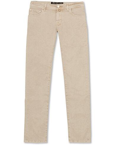 Jacob Cohën 5-Pocket Gabardine Trousers Beige