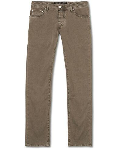 Jacob Cohën 5-Pocket Gabardine Trousers Grey