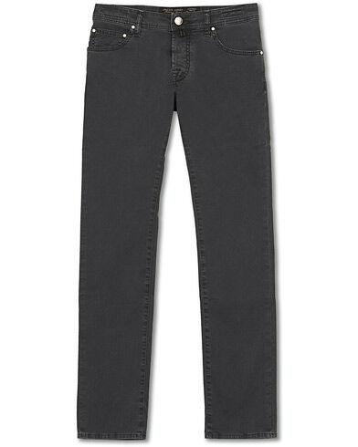 Jacob Cohën 5-Pocket Gabardine Trousers Dark Grey