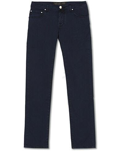 Jacob Cohën 5-Pocket Gabardine Trousers Blue