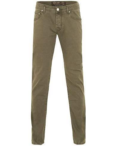 Jacob Cohën 5-Pocket Gabardine Trousers Green