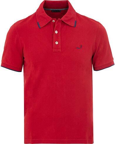 Jacob Cohën Cotton Stretch Polo Red