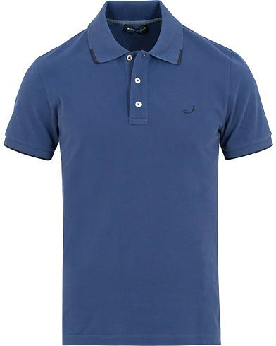 Jacob Cohën Cotton Stretch Polo Blue