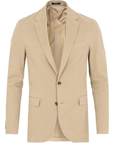 Ralph Lauren Morgan Garment Dyed Cotton Blazer Light Stone