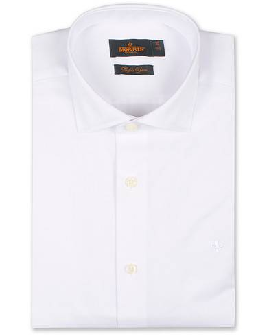 Morris Dean Spread Collar Cotton Shirt White