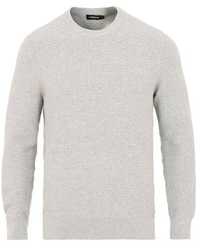 J.Lindeberg Hector Mini Structure Crew Neck Light Grey Melange