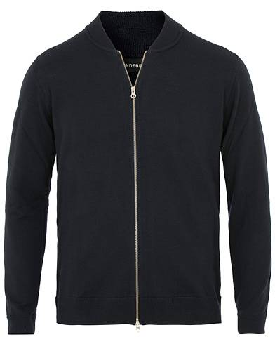 J.Lindeberg Lyam True Merino Full Zip Navy