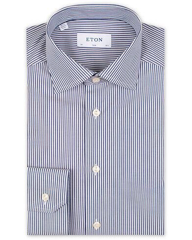 Eton Slim Fit Bengal Stripe Stretch Shirt White/Blue