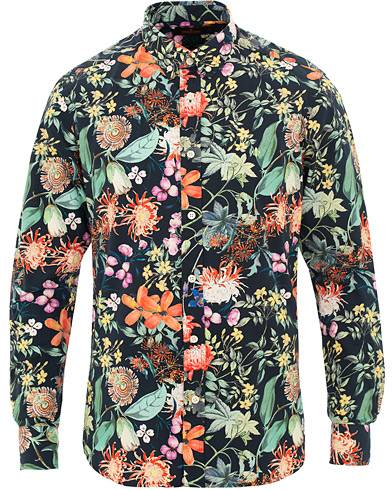 Morris Donovan Printed Flower Shirt Navy