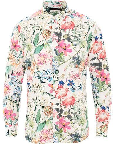 Morris Donovan Printed Flower Shirt White