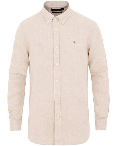 Morris Douglas Linen Shirt Khaki
