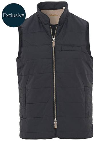 Stenströms Exclusively Made For Care of Carl Nylon Vest Navy