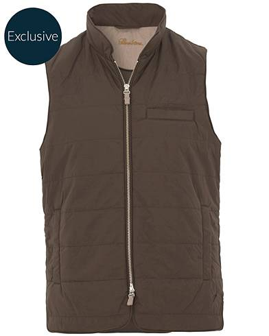 Stenströms Exclusively Made For Care of Carl Nylon Vest Brown