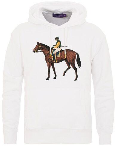 Ralph Lauren Purple Label Standing Horse Hoodie Optic White