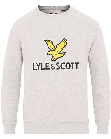 Lyle & Scott Logo Crew Neck Sweatshirt Light Grey Melange