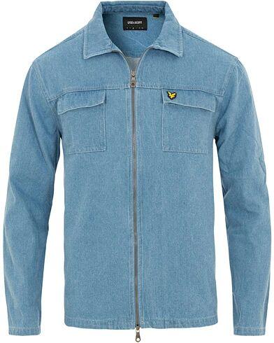 Lyle & Scott Full Zip Denim Shirt Jacket Light Blue