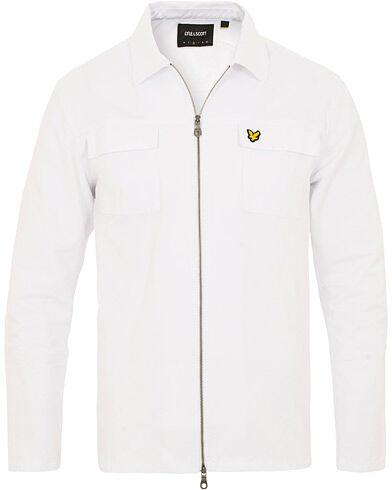 Lyle & Scott Full Zip Denim Shirt Jacket White