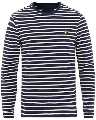 Lyle & Scott Stripe Long Sleeve Tee Navy/White