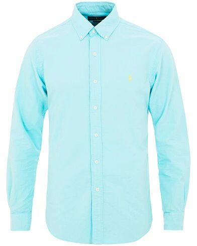 Ralph Lauren Slim Fit Garment Dyed Oxford Shirt Hammond Blue