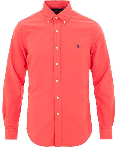 Image of Ralph Lauren Slim Fit Garment Dyed Oxford Shirt Cactus Flower