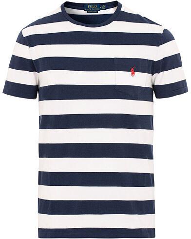 Ralph Lauren Stripe Pocket Crew Neck Tee White/Newport Navy