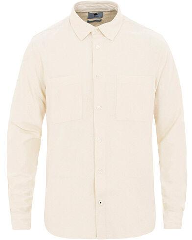NN07 Alberto Silk Nep Shirt Ivory
