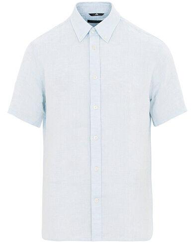 J.Lindeberg Daniel Linen Short Sleeve Shirt Ice Flow