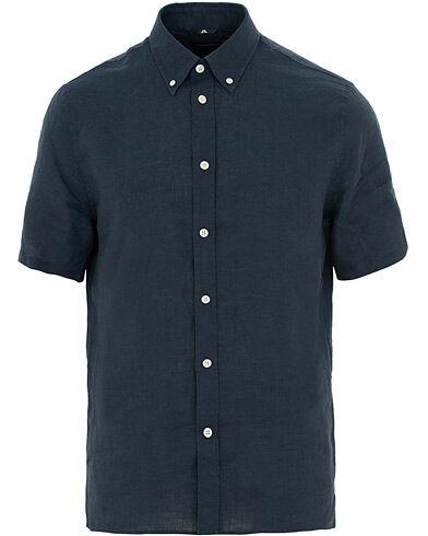 J.Lindeberg Daniel Linen Short Sleeve Shirt Navy