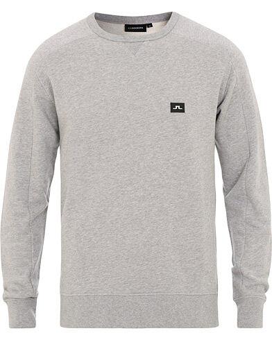 J.Lindeberg Throw Crew Neck Sweatshirt Light Grey Melange