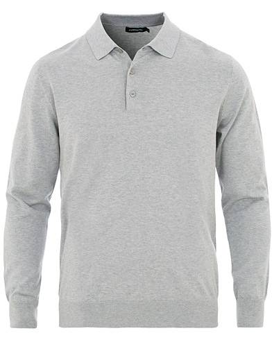 J.Lindeberg Rowan Cotton/Silk Pullover Light Grey Melange