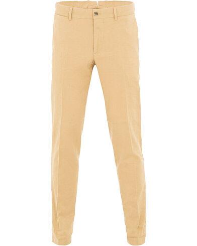 J.Lindeberg Grant Cotton/Linen Trousers Dessert Dunes